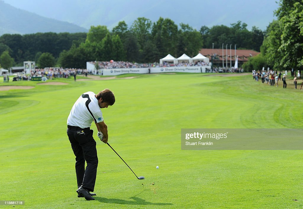 <a gi-track='captionPersonalityLinkClicked' href=/galleries/search?phrase=Robert+Rock&family=editorial&specificpeople=228315 ng-click='$event.stopPropagation()'>Robert Rock</a> of England in action during the third round of BMW Italian Open at Royal Park I Roveri on June 11, 2011 in Turin, Italy.