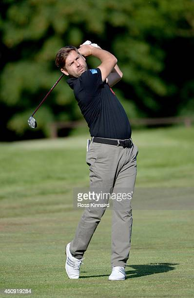 Robert Rock of England on the par five 5th hole during the second round of the Irish Open at the Fota Island Resort on June 20 2014 in Cork Ireland
