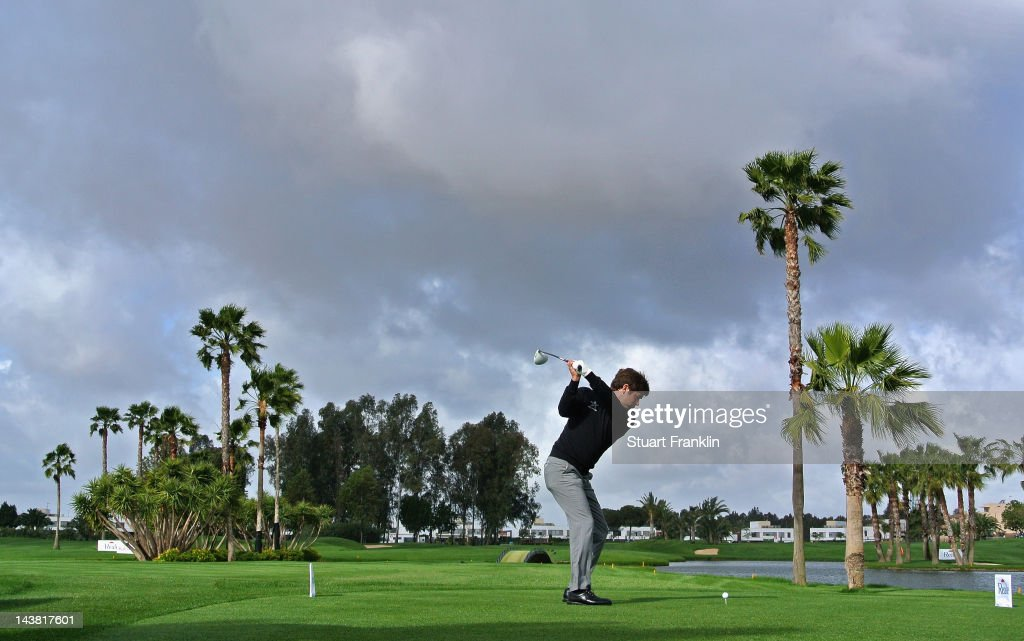 Robert Rock of England plays a shot during the second round of the Open de Espana at Real Club de Golf de Sevilla on May 4 2012 in Seville Spain