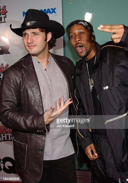 Robert Rodriguez and RZA during 'Kill Bill Vol 2' World Premiere Red Carpet at Arclight Cinerama Dome in Los Angeles California United States