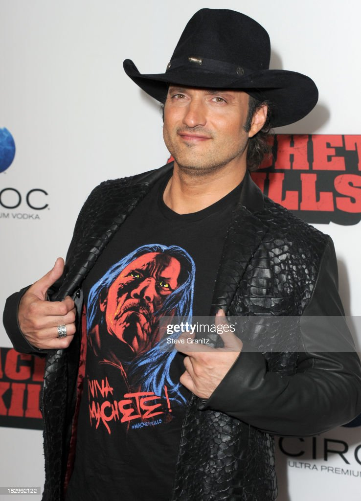 Robert Rodriguez arrives at the 'Machete Kills' - Los Angeles Premiere at Regal Cinemas L.A. Live on October 2, 2013 in Los Angeles, California.