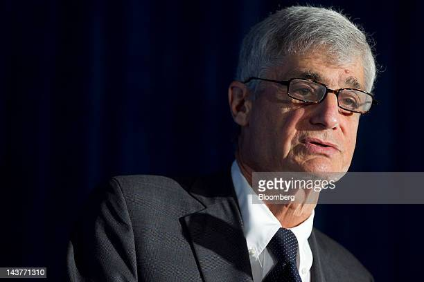 Robert Rubin cochair of the Council on Foreign Relations and former US Treasury secretary speaks at the Brookings Institution's Hamilton Project...