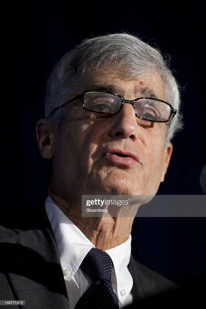 <a gi-track='captionPersonalityLinkClicked' href=/galleries/search?phrase=Robert+Rubin&family=editorial&specificpeople=209190 ng-click='$event.stopPropagation()'>Robert Rubin</a>, co-chair of the Council on Foreign Relations and former U.S. Treasury secretary, speaks at the Brookings Institution's Hamilton Project economic forum in Washington, D.C., U.S., on Thursday, May 3, 2012. Overhauling the U.S. tax code may promote economic growth and reduce inequality, said Rubin. Photographer: Andrew Harrer/Bloomberg via Getty Images