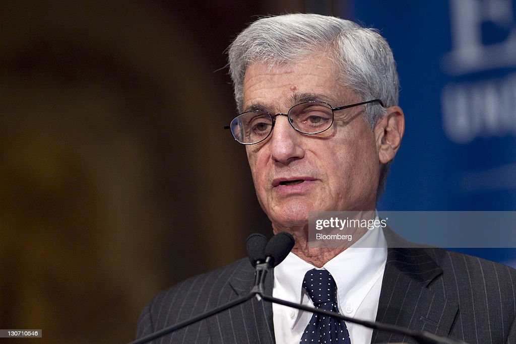<a gi-track='captionPersonalityLinkClicked' href=/galleries/search?phrase=Robert+Rubin&family=editorial&specificpeople=209190 ng-click='$event.stopPropagation()'>Robert Rubin</a>, co-chairman of the Council on Foreign Relations and former U.S. treasury secretary, speaks during a Clinton Foundation event at Georgetown University in Washington, D.C., U.S., on Friday, Oct. 28, 2011. The event was titled, 'Clinton-Gore Economics: Understanding the Lessons of the 1990s.' Photographer: Andrew Harrer/Bloomberg via Getty Images