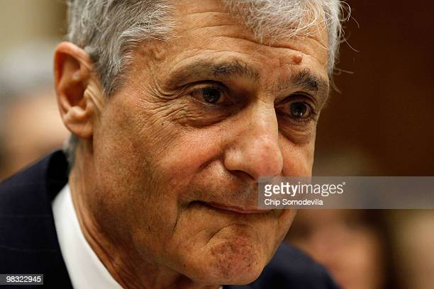 Robert Rubin former chairman of the Executive Committee of the Board of Directors at Citigroup Inc prepares to testify before the Financial Crisis...