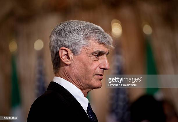 Robert Rubin former Secretary of the Treasury former Goldman Sachs board member and former Director of Citi Group waits for a luncheon at the US...