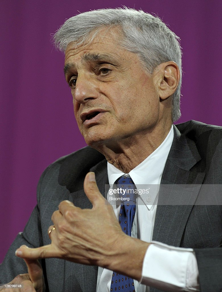 <a gi-track='captionPersonalityLinkClicked' href=/galleries/search?phrase=Robert+Rubin&family=editorial&specificpeople=209190 ng-click='$event.stopPropagation()'>Robert Rubin</a>, former U.S. treasury secretary, speaks at the 2011 World Business Forum in New York, U.S., on Thursday, Oct. 6, 2011. The World Business Forum is an annual global business summit for the executive community, where global icons debate the most pressing issues of the day. Photographer: Peter Foley/Bloomberg via Getty Images