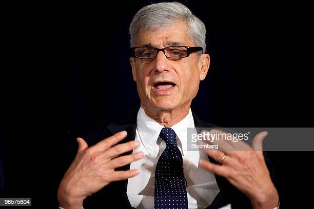 Robert Rubin former US treasury secretary speaks at the Hamilton Project economic forum in Washington DC US on Tuesday April 20 2010 The goal of the...