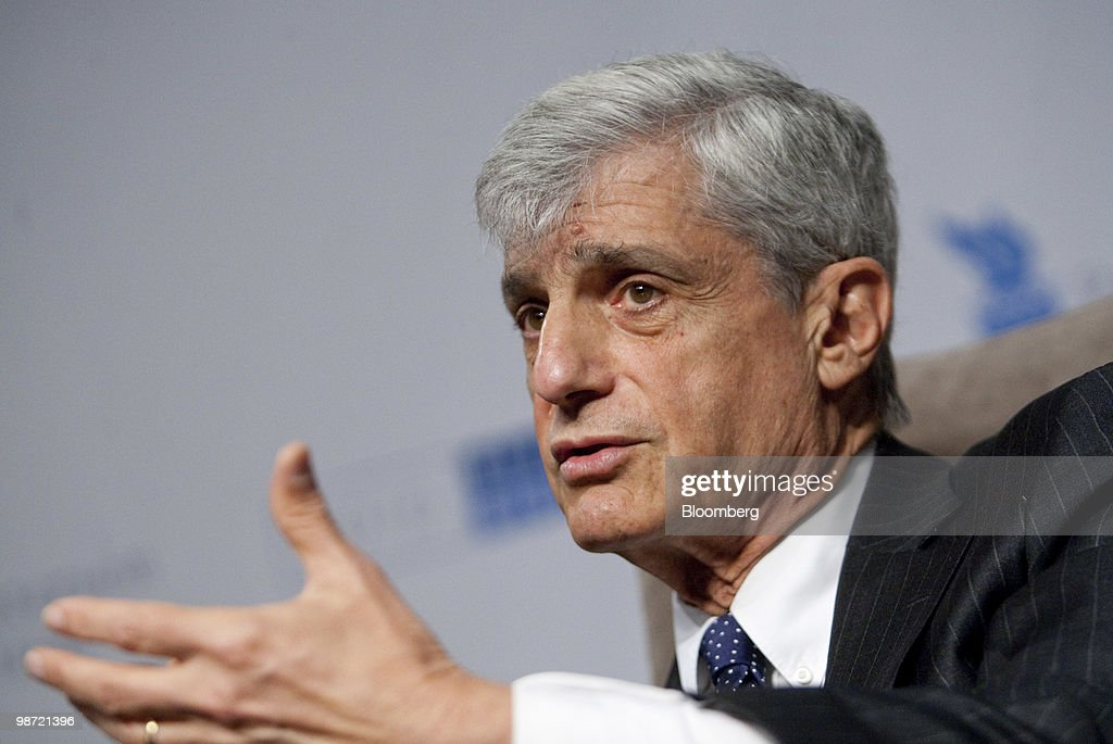 <a gi-track='captionPersonalityLinkClicked' href=/galleries/search?phrase=Robert+Rubin&family=editorial&specificpeople=209190 ng-click='$event.stopPropagation()'>Robert Rubin</a>, former U.S. treasury secretary, speaks during the Peter G. Peterson Foundation fiscal summit in Washington, D.C., U.S., on Wednesday, April 28, 2010. The summit is titled 'America's Crisis And A Way Forward.' Photographer: Andrew Harrer/Bloomberg via Getty Images