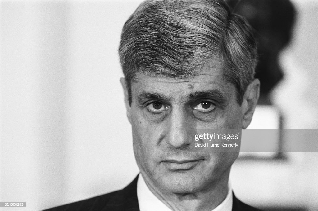 Robert Rubin, Secretary of the Treasury during the Clinton Administration, at a White House event on January 29, 1998 in Washington DC.