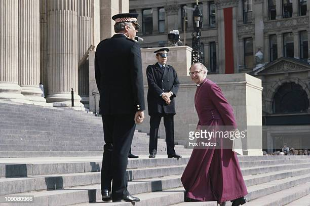 Robert Runcie The Archbishop of Canterbury arriving at St Paul's Cathedral where he will be conducting the marriage ceremony of Prince Charles and...