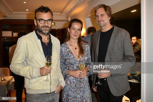 Robert Sadler Lynorette Morsch and Lars Krueger attend the Surface Magazine Fall Fashion Issue 2017 Presentation on October 16 2017 in Paris France