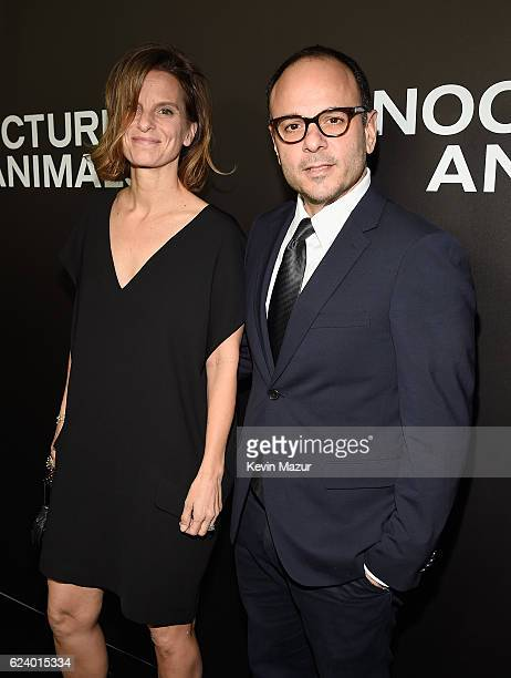 Robert Salerno and a guest attend the New York Premiere of Tom Ford's 'Nocturnal Animals' at The Paris Theatre on November 17 2016 in New York City