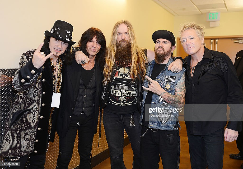 Robert Sarzo, Rudy Sarzo, <a gi-track='captionPersonalityLinkClicked' href=/galleries/search?phrase=Zakk+Wylde&family=editorial&specificpeople=2090508 ng-click='$event.stopPropagation()'>Zakk Wylde</a>, Blasko and James Kottak during the fourth annual Vegas Rocks! Magazine Music Awards 2013 at the Hard Rock Hotel and Casino on August 25, 2013 in Las Vegas, Nevada.