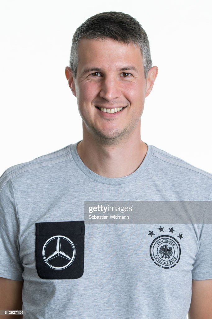 Robert Schreiner poses during the Germany U17 team presentation on September 5, 2017 in Haarbach, Germany.