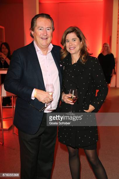 Robert SchulerVoith and his partner during the PIN Party 'Let's party 4 art' at Pinakothek der Moderne on November 18 2017 in Munich Germany