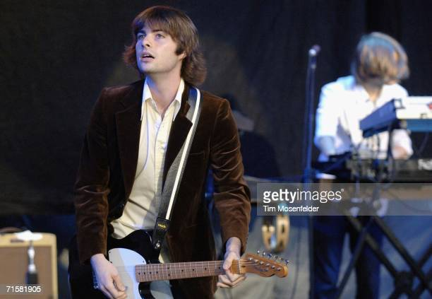 Robert Schwartzman from the band Rooney performs at Shoreline Amphitheatre on August 3 2006 in Mountain View California