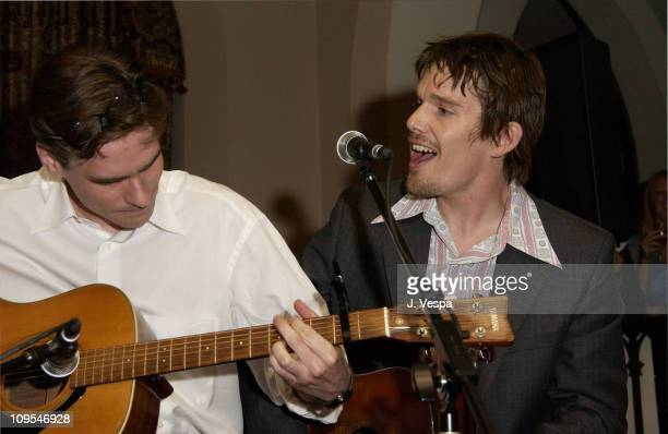Robert Sean Leonard and director Ethan Hawke during Details Magazine hosts 'Chelsea Walls' Premiere and After Party Los Angeles at Laemmle Sunset and...