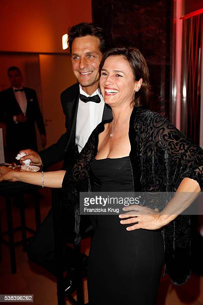 Robert Seeliger and Sandra Maischberger during the Lola German Film Award 2016 on May 27 2016 in Berlin Germany