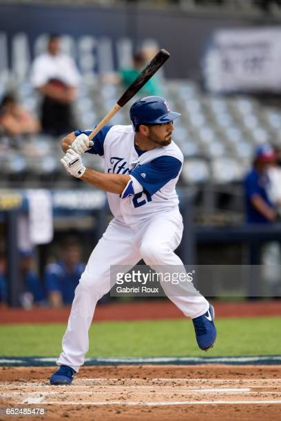 Robert Segedin of Team Italy bats during Game 3 of Pool D of the 2017 World Baseball Classic against Team Venezuela on Saturday March 11 2017 at...