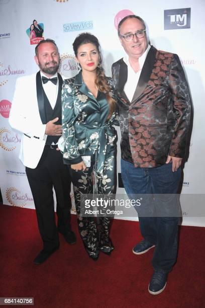 Robert Seneker Ketevan Mikhova and Steve Owens at Sai Suman's Official Hollywood Runway Fashion Show held at Sofitel Hotel on April 11 2017 in Los...