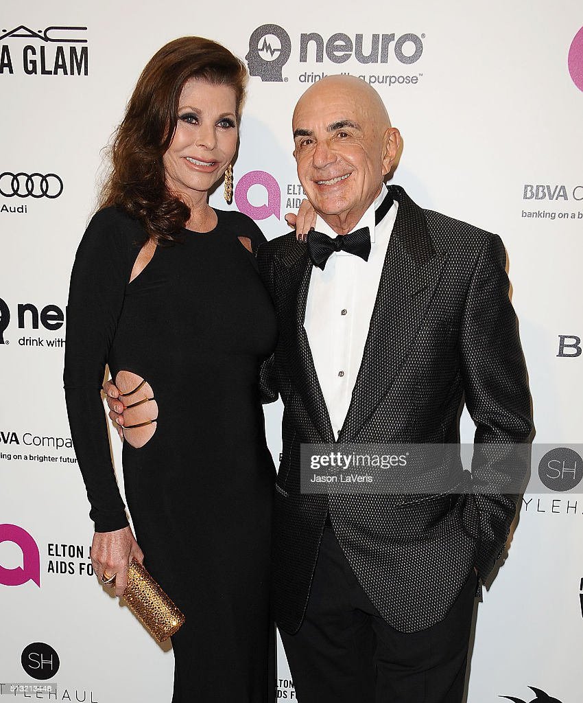 Robert Shapiro and wife Linell Shapiro attend the 24th annual Elton John AIDS Foundation's Oscar viewing party on February 28 2016 in West Hollywood...