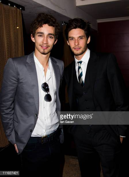 Robert Sheehan and Ben Barnes attend the 'Killing Bono after party hosted by Total Management' at Ruby Blue on March 28 2011 in London England