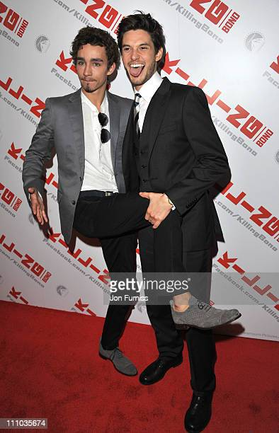 Robert Sheehan and Ben Barnes attends the UK premiere of 'Killing Bono' at Apollo West End Cinema on March 28 2011 in London England