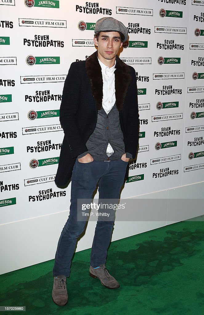 Robert Sheehan arrives at the Jameson Cult Film Club gala premiere of Seven Psychopathsat Oval Space on November 27, 2012 in London, England. Jameson Cult Film Club hosts immersive screenings of cult classics and new release 'Future Cult' films across the UK
