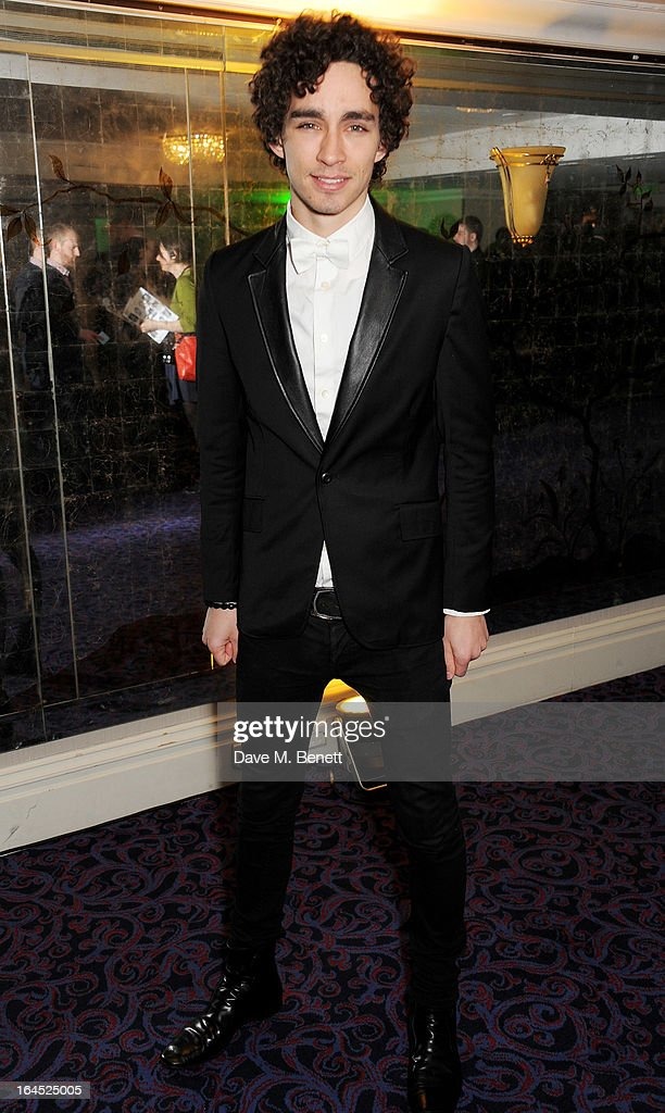 Robert Sheehan arrives at the Jameson Empire Awards 2013 at The Grosvenor House Hotel on March 24, 2013 in London, England.