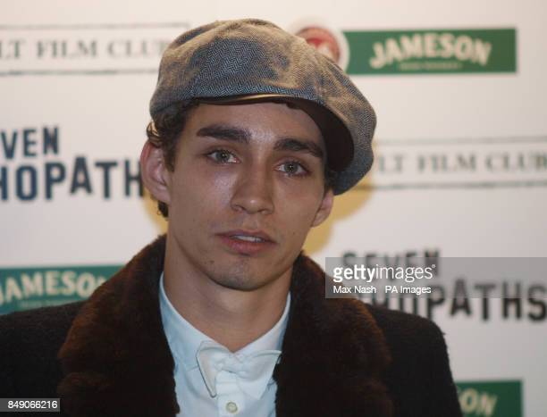 Robert Sheehan arriving at the Gala Premiere of Seven Psychopaths hosted by the Jameson Cult Film Club at Oval Space in Bethnal Green London PRESS...