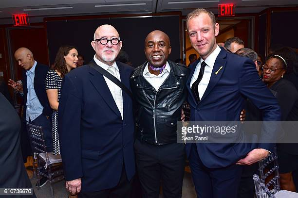 Robert Shimshak Odili Donald Odita and Ian Alteveer attend Abstracted Black Tie Dinner Hosted by Pamela Joyner Fred Giuffrida and the Ogden Museum of...