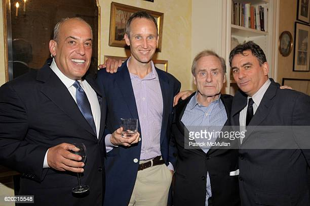 Robert Silver Harris Lydon Harry Evans and Jeffrey Leeds attend TINA BROWN VICKY WARD and LA MER host a party honoring SUSAN NAGEL'S new book 'Marie...