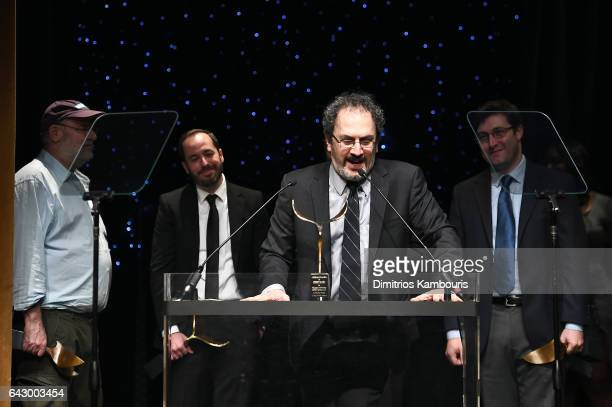 Robert Smigel accepts award onstage during 69th Writers Guild Awards New York Ceremony at Edison Ballroom on February 19 2017 in New York City