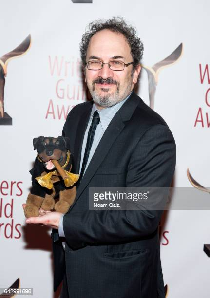 Robert Smigel and Triumph the Insult Comic Dog attend the 69th Annual Writers Guild Awards New York ceremony at Edison Ballroom on February 19 2017...