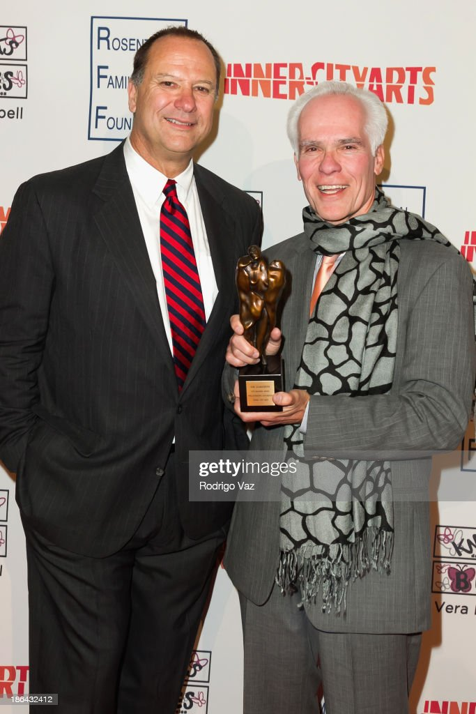 Robert Smiland (L) and Gil Garcetti attend the Inner-City Arts Imagine Gala at The Beverly Hilton Hotel on October 30, 2013 in Beverly Hills, California.