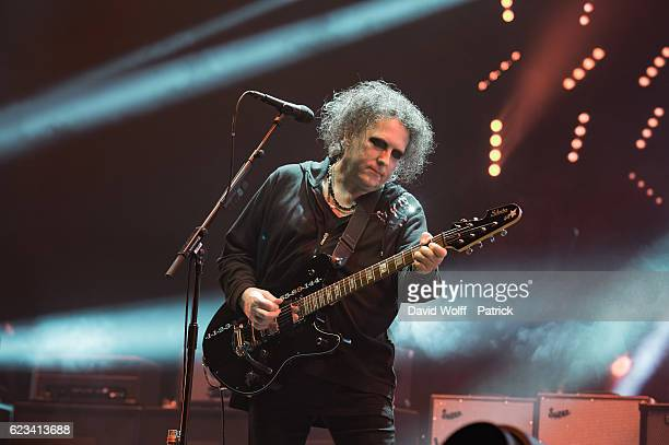 Robert Smith from The Cure performs at AccorHotels Arena on November 15 2016 in Paris France