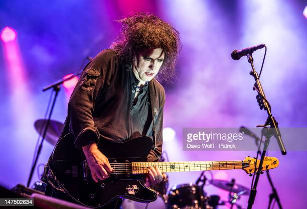 Robert Smith from The Cure performs at Eurockeennes Music Festival on June 30 2012 in Belfort France