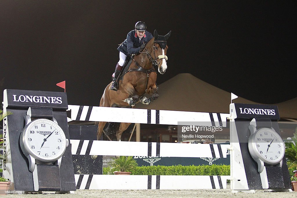 Robert Smith of Great Britain rides Voila during the President of the UAE Showjumping Cup - Furusiyyah Nations Cup Series presented by Longines on February 23, 2013 in Al Ain, United Arab Emirates.