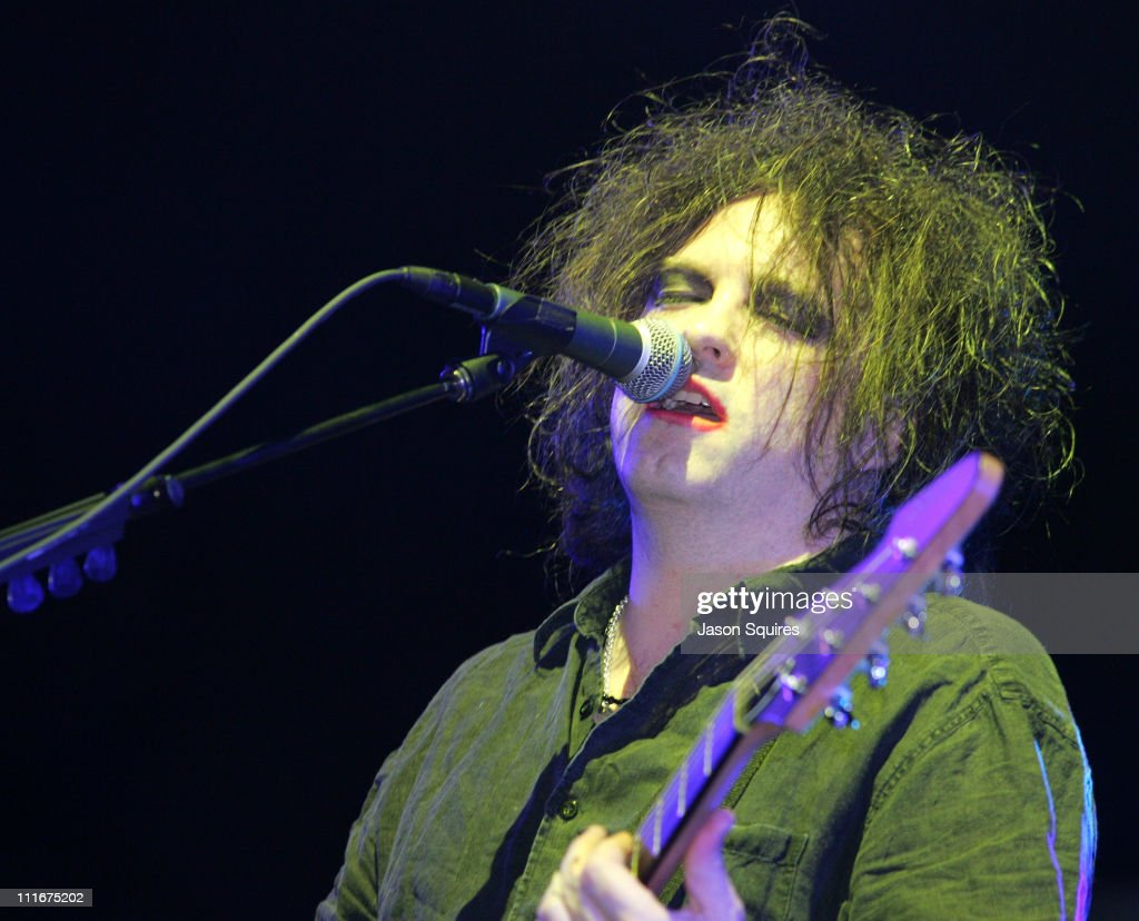Robert Smith of The Cure during 2004 Coachella Valley Music Festival - The Cure at Empire Polo Grounds in Indio, California, United States.
