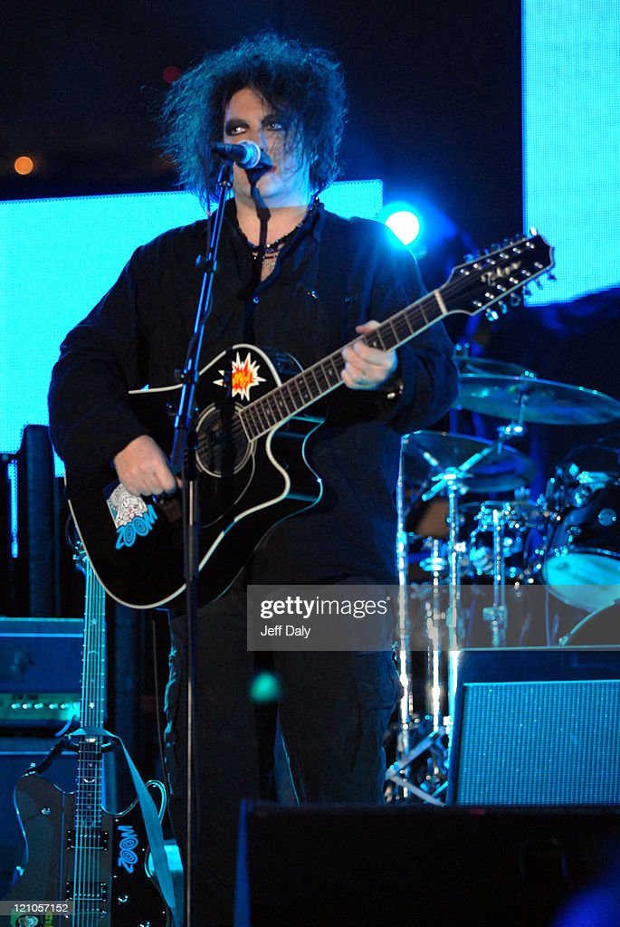 Robert Smith of The Cure during Winter Music Conference 2007 - Ultra Music Festvial 9 - Day 1 at Bicentennial Park in Miami, Florida, United States.