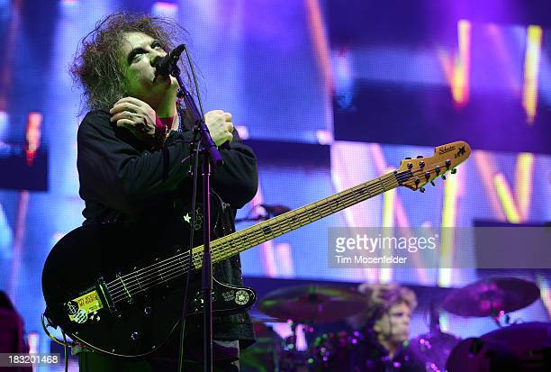 Robert Smith of The Cure performs as part of the Austin City Limits Music Festival Day One at Zilker Park on October 5 2013 in Austin Texas