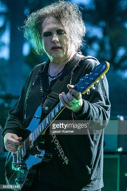 Robert Smith of the Cure performs at Bayfront Park Amphitheater on June 26 2016 in Miami Florida