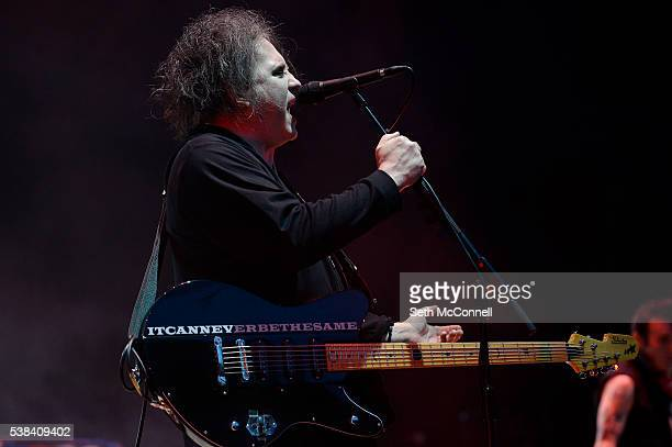 Robert Smith of The Cure performs at Fiddlers Green Amphitheatre in Englewood Colorado on June 5 2016