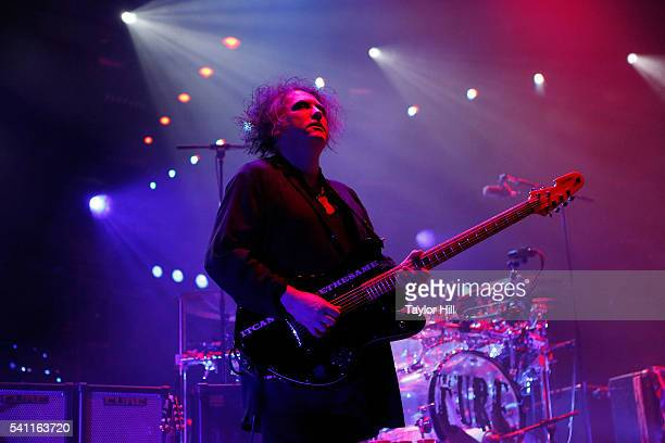 Robert Smith of The Cure performs at Madison Square Garden on June 18 2016 in New York City