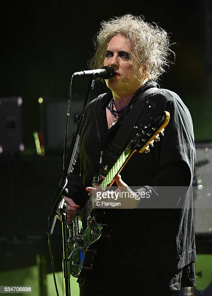 Robert Smith of The Cure performs at Shoreline Amphitheatre on May 26 2016 in Mountain View California