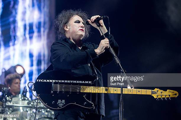 Robert Smith of The Cure performs at the Sasquatch Music Festival at the Gorge Amphitheatre on May 29 2016 in George Washington