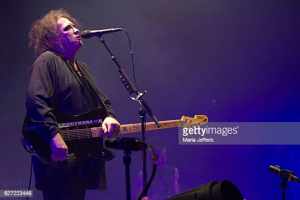 Robert Smith of The Cure performs at Wembley Arena on December 2 2016 in London England