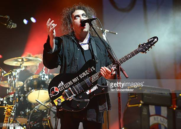 Robert Smith of The Cure performs during the Bottlerock Music Festival at the Napa Valley Expo on May 30 2014 in Napa California