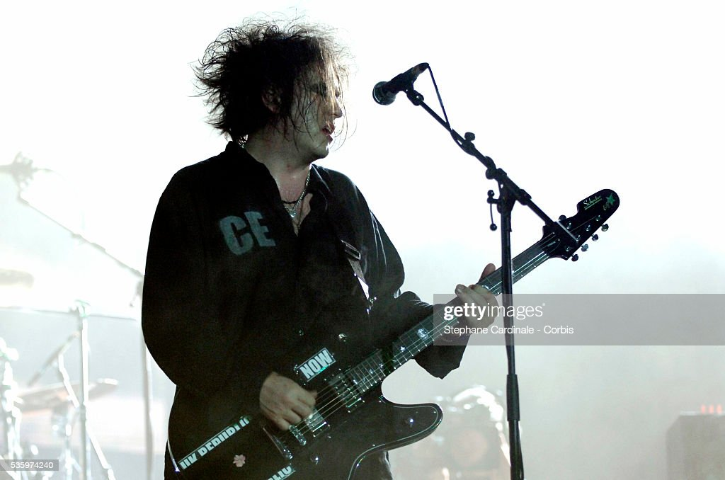 Robert Smith of 'The Cure' performs during the Live 8 France at the Chateau de Versailles near Paris.
